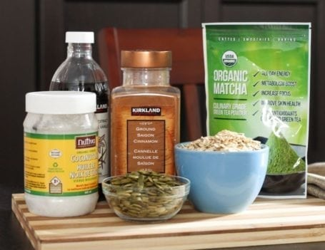 ingredients for matcha granola