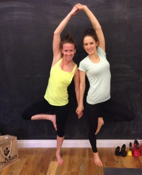 jess and i at yoga for runners