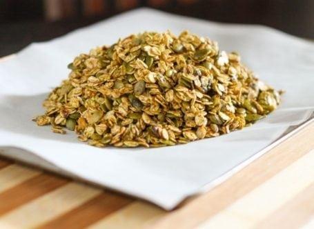 matcha granola before baking