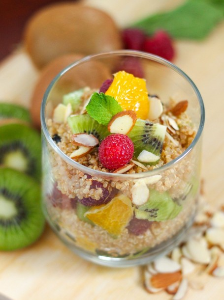 Fruit and Quinoa Parfait - Eat Spin Run Repeat