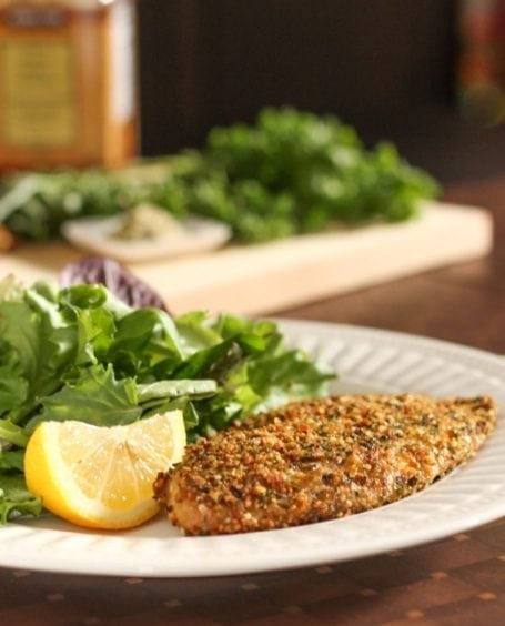 Herb and Hemp Seed Crusted Tilapia - Eat Spin Run Repeat