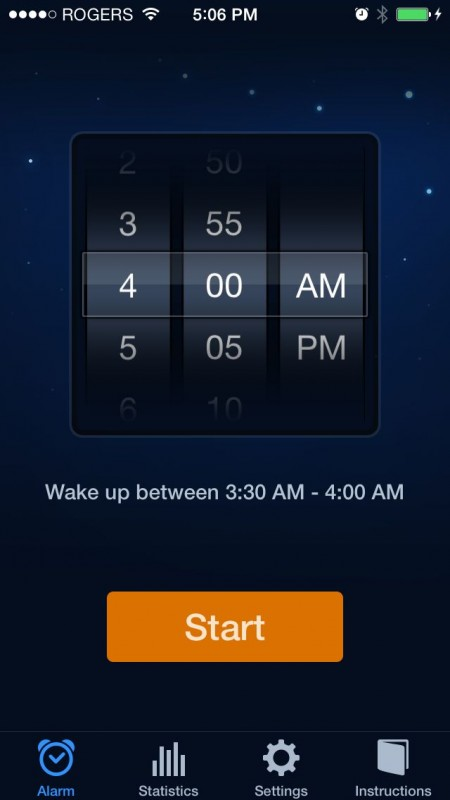 Sleep Cycle - Set alarm