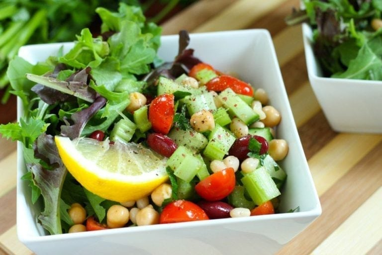 Speedy Big-Batch Meal Prep - Middle Eastern 3-Bean Salad - Eat Spin Run Repeat