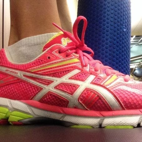 asics and foam roller