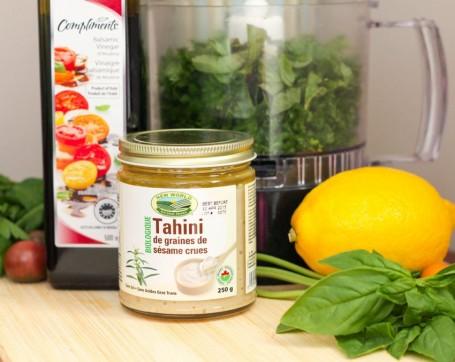 ingredients for lemon herb dressing