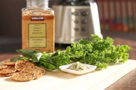 kirkland salt-free seasoning parsley hemp seeds and crackers