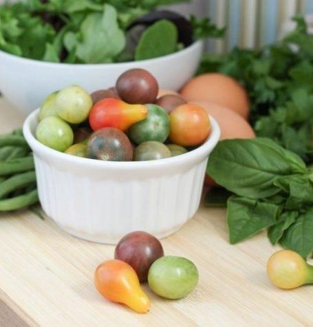 organic baby heirloom tomatoes