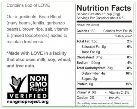 original power o's ingredient label