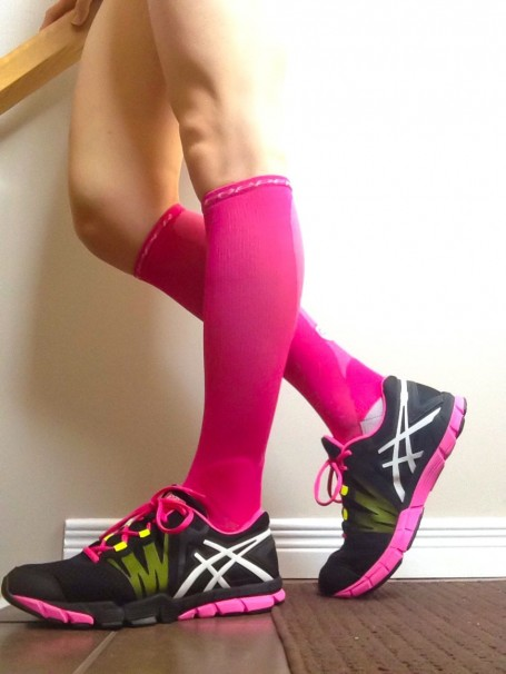 tommie copper pink compression socks