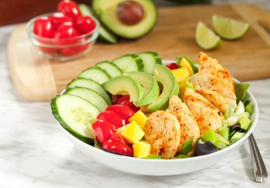 Spicy Lime Chicken Salad - Eat Spin Run Repeat