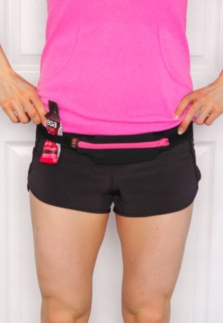spibelt with water resistant pocket and gel loops