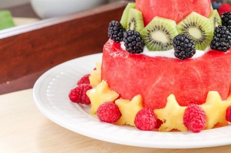 How to Make a Watermelon Cake - Eat Spin Run Repeat