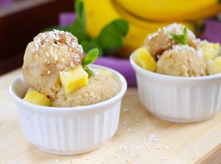 Vegan Pineapple Ginger Ice Cream - Eat Spin Run Repeat