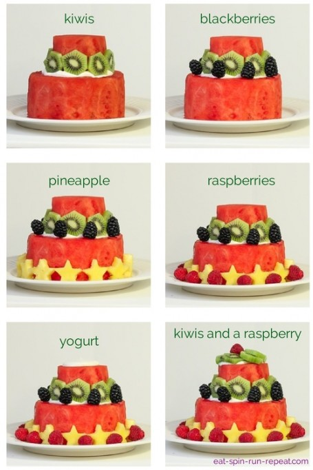 how to decorate the watermelon cake