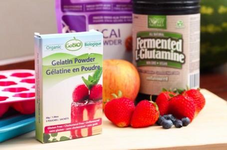 ingredients for making healthy gummies
