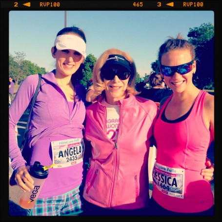 meeting kathrine switzer at niagara falls womens half marathon