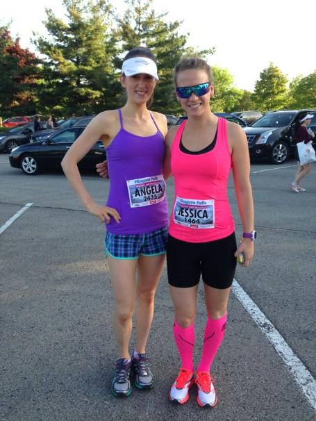 pre-race photo with jess