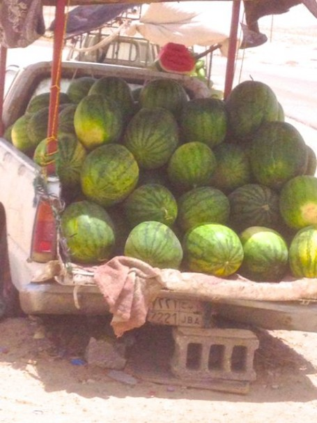 Watermelon truck in Bahrain
