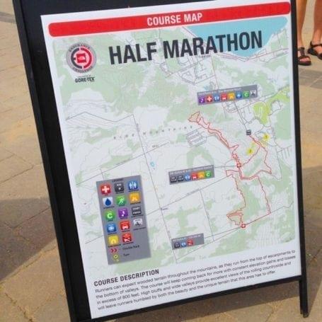 ECSON half marathon route