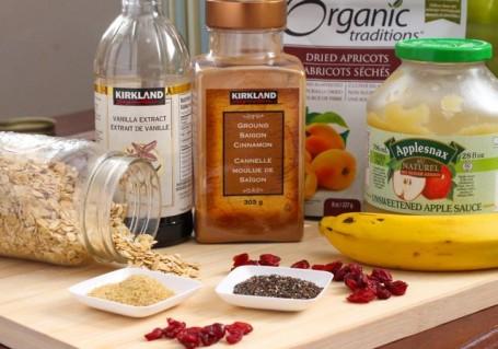 ingredients for vegan triail mix bars