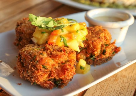 The Boathouse - Crab Cakes with Fruit Salsa