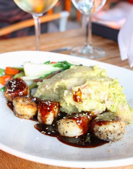 The Boathouse - Seared Scallops with Wasabi Mash