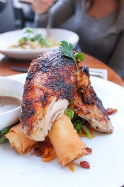 chicken with crispy mashed potatoes