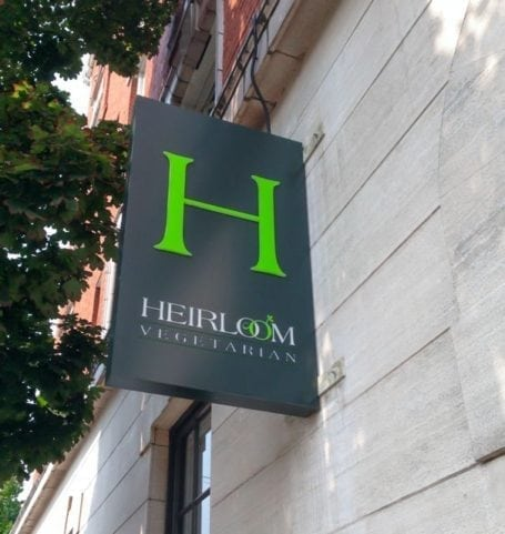 heirloom vegetarian restaurant