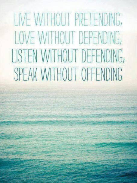 live without pretending