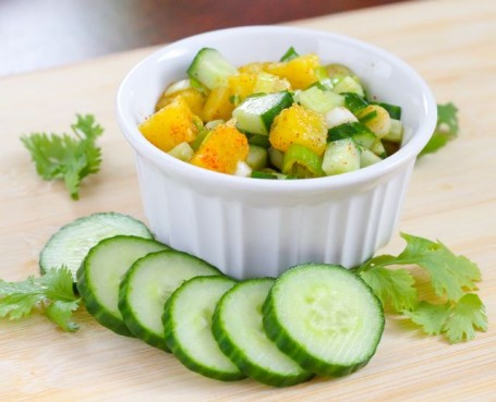 pineapple cucumber salsa - Eat Spin Run Repeat