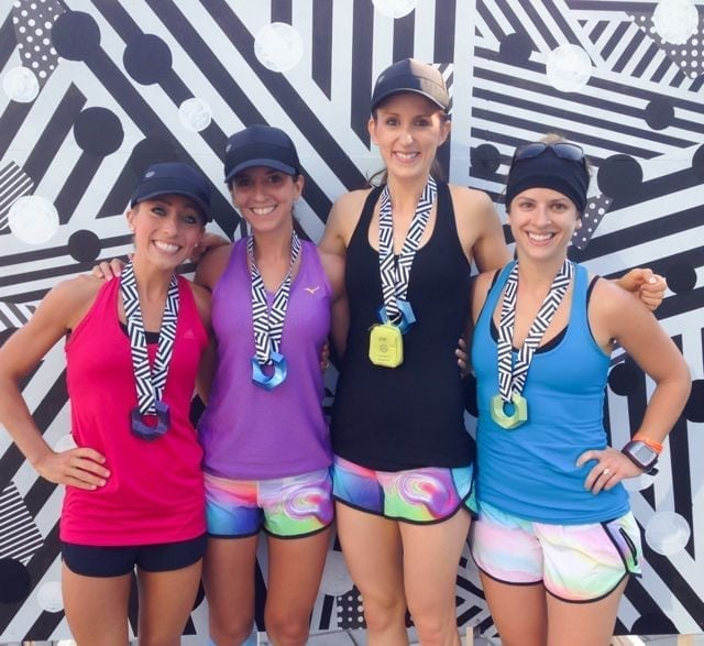 post-seawheeze race photo with medals