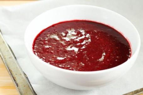 pureed berries