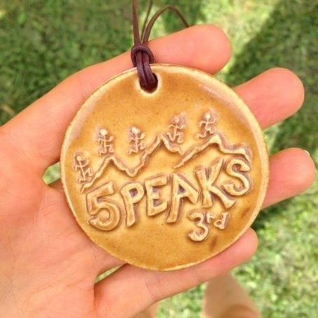 5 Peaks Medal - 3rd place