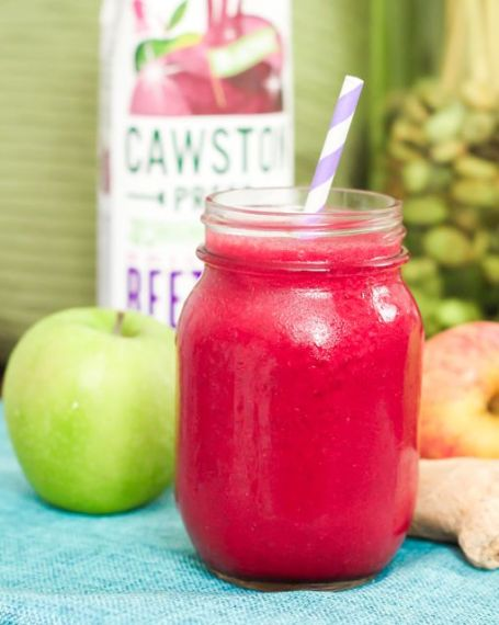 Beet Apple Raspberry Smoothie - Eat Spin Run Repeat