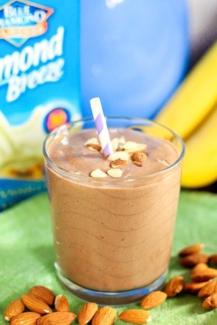 Chocolate Covered Almond Smoothie - Eat Spin Run Repeat