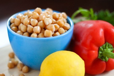 ingredients for Roasted Red Pepper Chickpea Burgers - Eat Spin Run Repeat