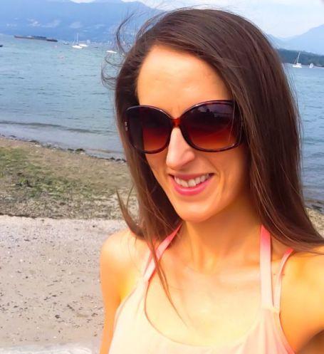 walking along kits beach, vancouver