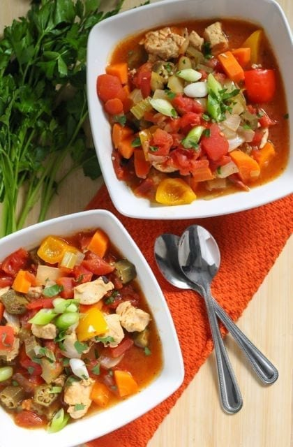 Clean Eating Spicy Chicken and Okra Gumbo - Eat Spin Run Repeat