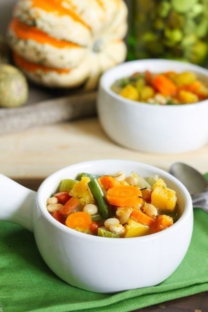 Fall Harvest Vegetable and Bean Soup - Eat Spin Run Repeat