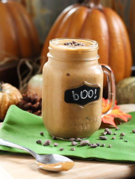 Pumped Up Pumpkin Pie Smoothie - Eat Spin Run Repeat