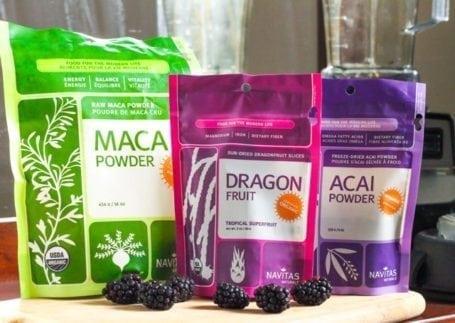 Navitas Naturals Superfoods - Maca, dragon fruit and acai