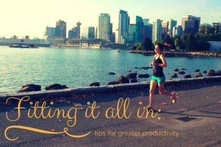 Tips for greater productivity - Eat Spin Run Repeat