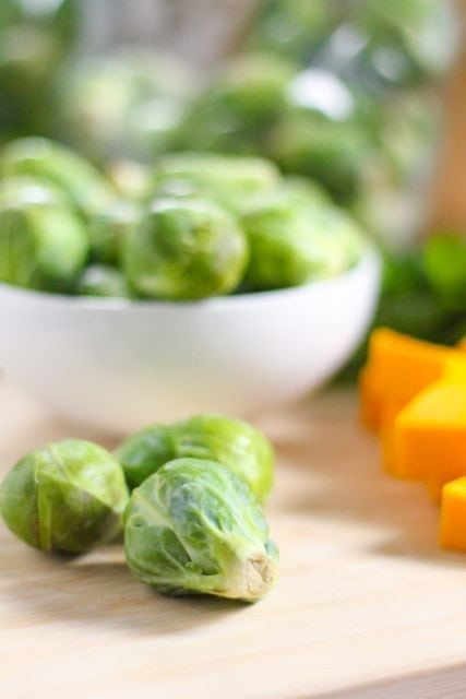 brussels sprouts and butternut squash