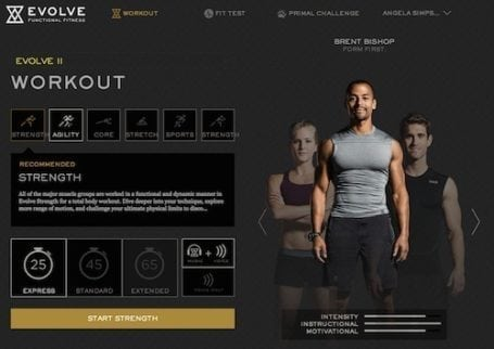 evolve II agility express selection screen