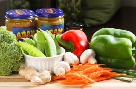Ingredients for Thai Peanut Chicken Stir Fry - Eat Spin Run Repeat