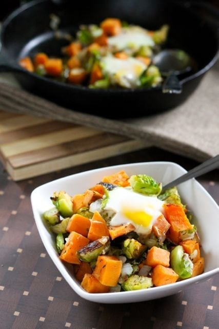 Sweet Potato and Brussels Sprout Hash | My Fresh Perspective | #paleo #healthyrecipes #antiinflammatory #vegetarian #plantbased