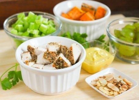 ingredients for autumn chicken salad
