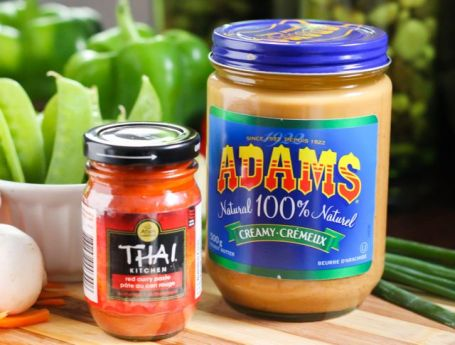 peanut butter and thai curry paste