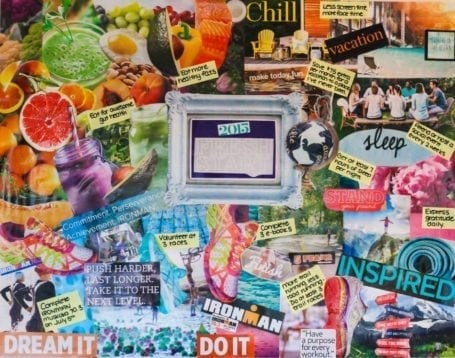 2015 Vision Board - Eat Spin Run Repeat