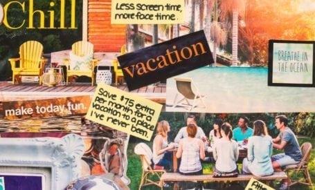 2015 Vision Board - Eat Spin Run Repeat - social/saving/vacation goals